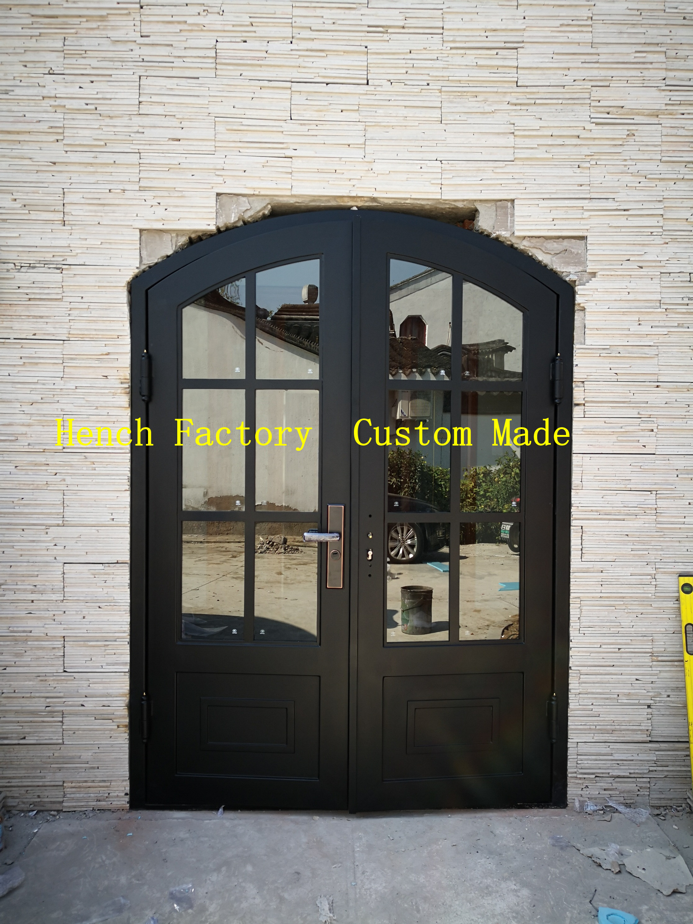 Shanghai Hench Brand China Factory 100% Custom Made Sale Australia Custom Iron Front Doors