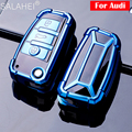 Чехол для автомобильного ключа из ТПУ для Audi A3 A4 A4L B5 B6 B7 B8 B9 A5 A6 A6L C5 C6 Q3