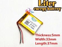 3.7V 750mAh 503337 ליתיום פולימר LiPo נטענת יון תאים עבור Mp3Mp4 Mp5 DIY כרית ספר אלקטרוני bluetooth ראשי