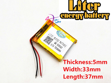 3.7V 750mAh 503337 Lithium Polymer LiPo Rechargeable ion cells For Mp3Mp4 Mp5 DIY PAD E book bluetooth heads