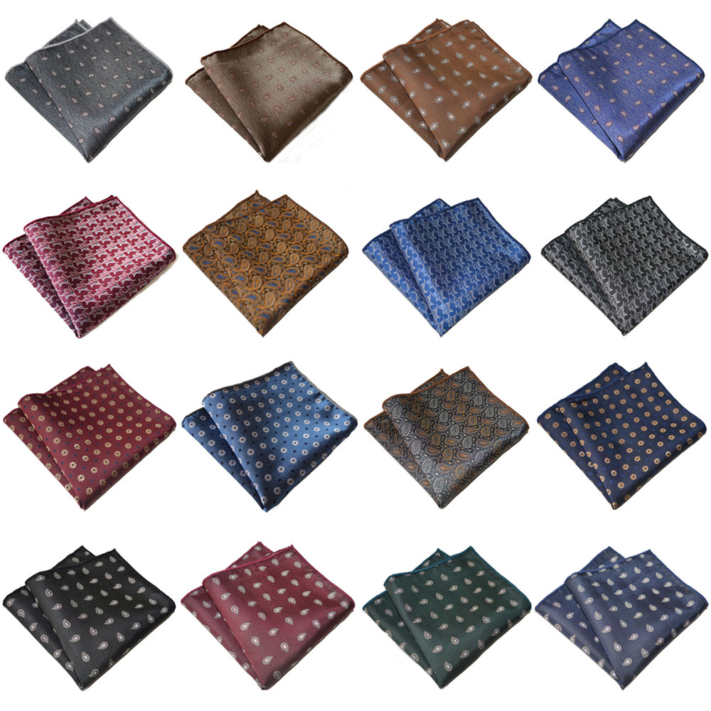 Mens Hanky Paisley Printed Pocket Square Wedding Party Accessory Handkerchief