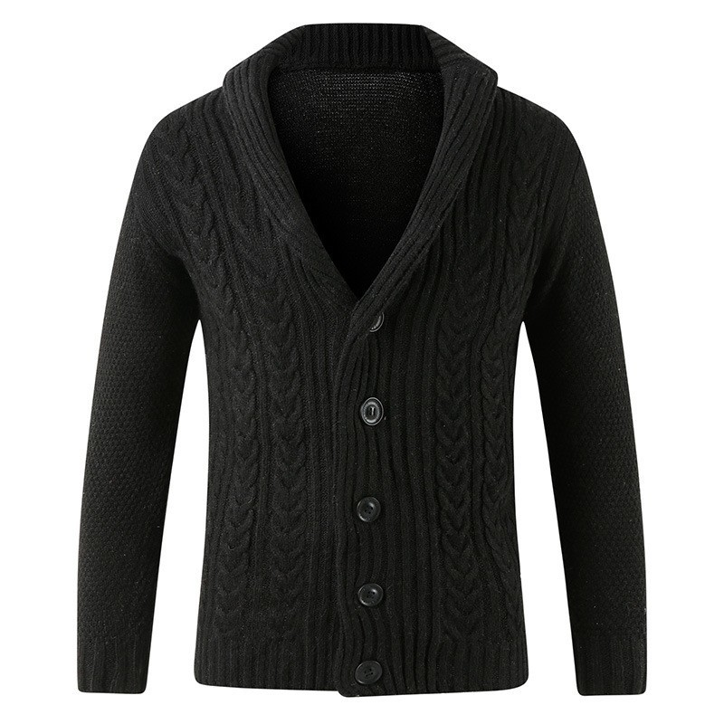 Hot Sale 2020 Mens Sweater Cardigan Solid Color Single Breasted Knitwear Outwear Sweater Coat Long Sleeve Slim Fit Knitted Coats