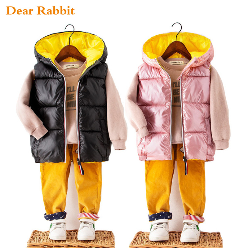 Chinatera Baby Boys Girls Autumn Winter Clothes I Love Dad Mom Printed Hooded Embroidery Romper