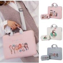 Cute Cartoon PU Scratch-resistant Laptop Shoulder Bag 11 13 14 15 15.6 inch Notebook Carry Case for MacBook Air HP Dell