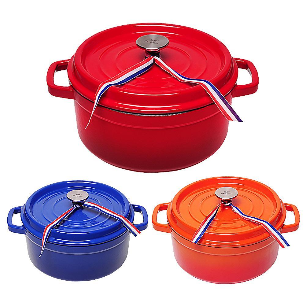 Thickened cast iron soup pot non-stick enamel
