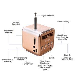 Image 4 - Ingelon แบบพกพา Mini วิทยุ FM ลำโพง LCD สเตอริโอ MP3 เครื่องเล่นเพลง Micro SD/TF/USB 8GB การ์ด Dropshipping