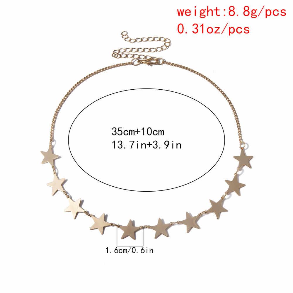 ボヘミアン多層スターチョーカーネックレスセット女性のためのスウィートラブハートペンダントネックレスステートメントカップルの宝石類のギフト