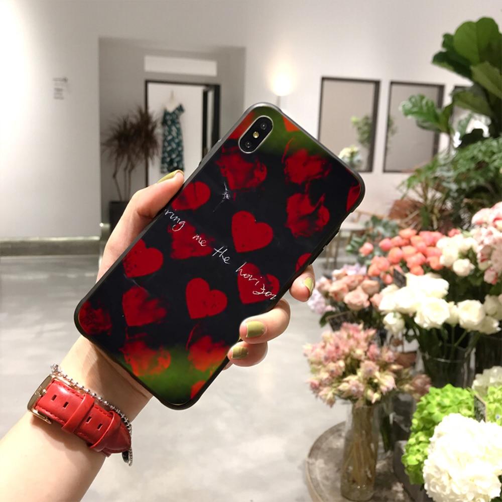 NBDRUICAI Die bringen mich horizon BMTH DIY Luxus Telefon Fall für iPhone 11 pro XS MAX 8 7 6 6S Plus X 5S SE XR fall
