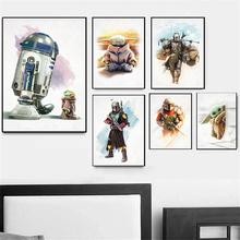 strong Import List strong Obraz na płótnie Disney Movie gwiezdne wojny #8222 Alien #8221 Yoda plakaty i druki Cuadros obraz na ścianę do salonu wystrój domu tanie tanio CN (pochodzenie) Wydruki na płótnie Pojedyncze PŁÓTNO akwarelowy abstrakcyjne bez ramki Malowanie natryskowe Pionowy prostokąt