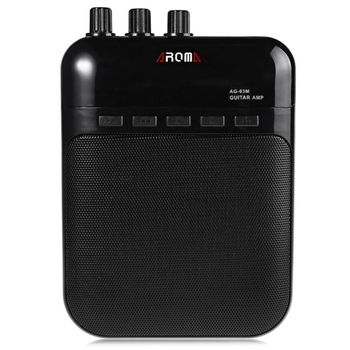 Aroma Ag - 03M Portable Charging Mini Guitar Amplifier 25Hz-20Khz Metal Guitar Amplifier with Usb Cable фото