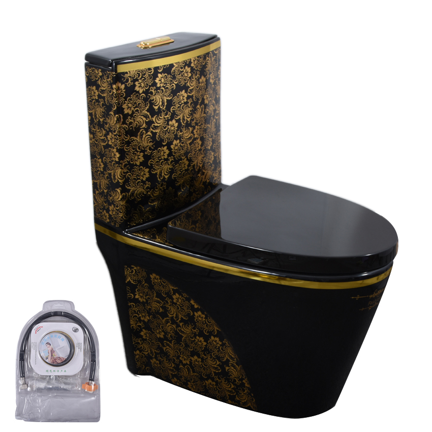 896 Household Super Swirl One Piece Toilet Mute Closestool Luxury Toilet Super Vortex Nightstool Conjoined Ceramics Toilet