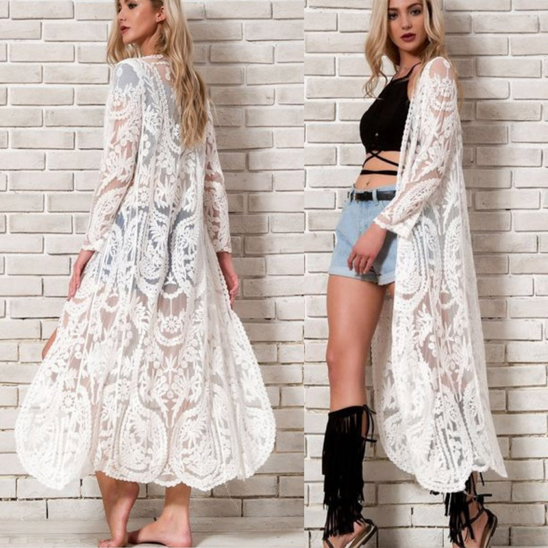 2019 Long Kaftan Beach Dress Tunic Beach Cover Up Swimwear Women Swimsuit Bikini Cover Up Pareo Sarong Bathing Suit Beachwear