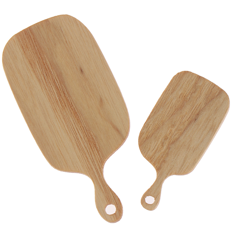1:12 Miniature Dollhouse Sticky Board Knife Chopping Block Set Ins Style Mini Wooden Board Dollhouse Kitchen Accessories