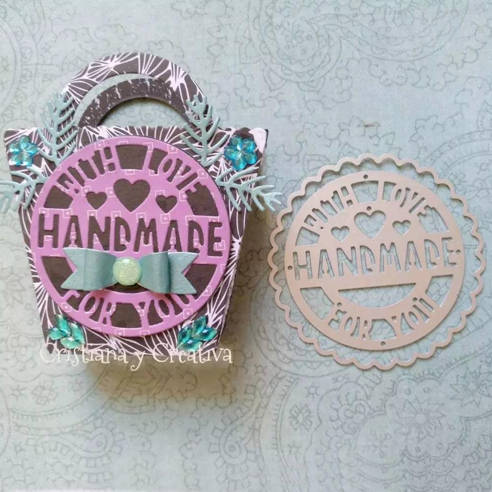 Handmade Heart Love Word Sentiment New Arrival Cutting Dies Scrapbooking Dies Metal Stamps and die for Card Making
