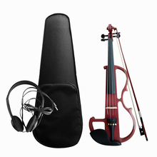 Ebony Violin-Kit Electric Basswood Fingerboard Fiddle-Style Silent Pegs Body
