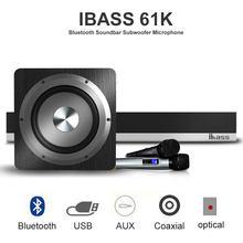 Ibass 61k bluetooth Саундбар с сабвуфером микрофон объемный