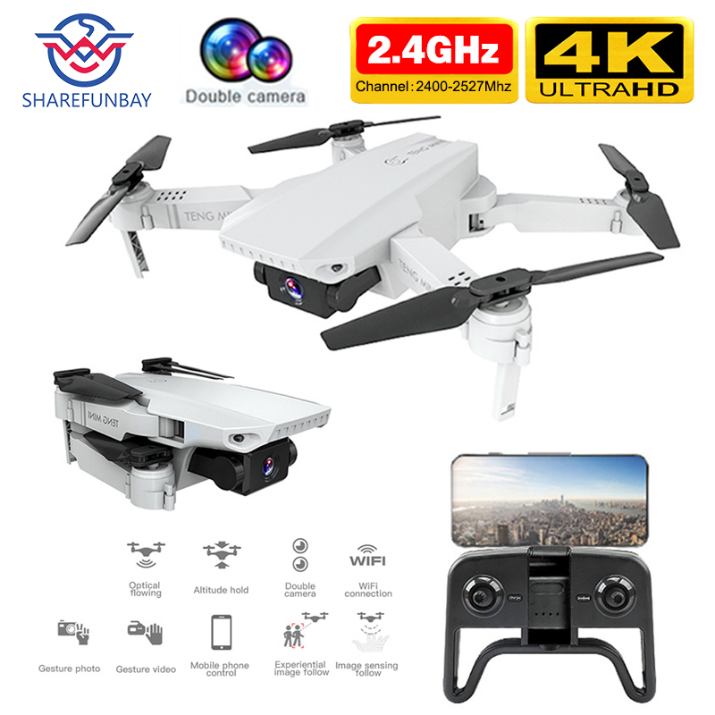 SHAREFUNBAY KF609 drone HD 4k WiFi real-time transmission fpv video live recording dual camera height keeping drone with camera