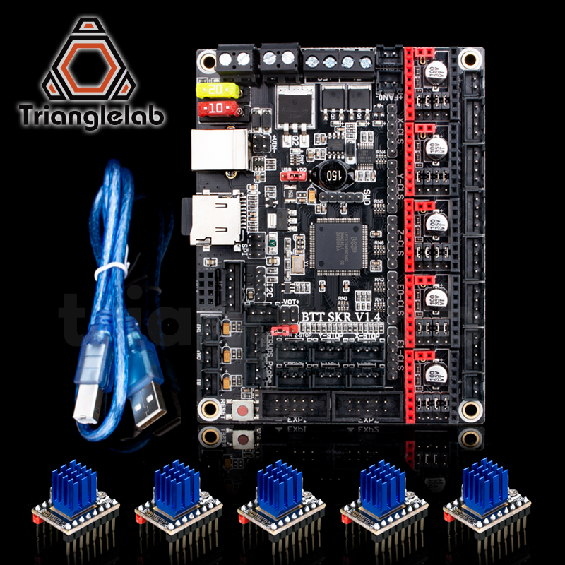 Trianglelab BTT SKR V1.4 BTT SKR V1.4 Turbo Placa de Control de 32 bits actualización SKR V1.3 4988 TMC2209 controlador para impresora 3d Ender3