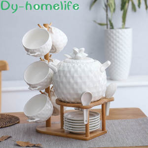 Tableware-Set Bowl-Spoon-Set Wooden-Stand Soup-Pot Ceramic Insulation Pineapple-Shaped