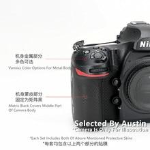 Cao Cấp Ống Kính Da Decal Bọc Cho Nikon D850 Decal Bảo Vệ Chống Trầy Xước Áo Bọc Cover