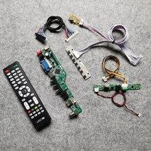 Para m200hjj/m200hjk/m215hjj/m215hjk/m236hjj 1920*1080 tela wlde 60hz 30 pinos display controlador placa kit lvds hdmi + vga + usb + av