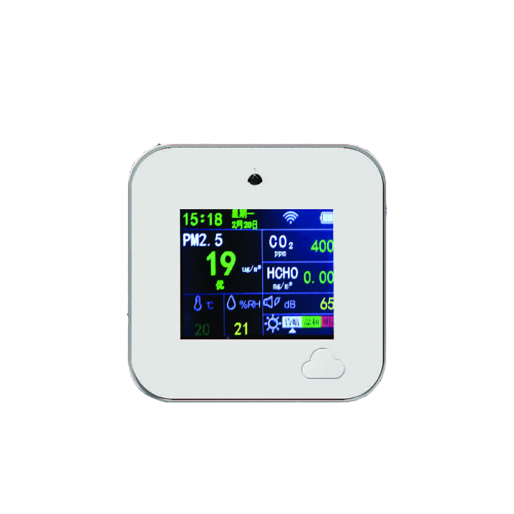 A2 Air Monitor CO2, HCHO Temperature And Humidity Support WIFI CommunicationCan Be Controlled Via App;