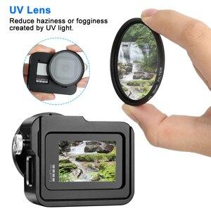 Image 3 - Alüminyum alaşım koruyucu kılıf GoPro Hero 8 siyah Metal kasa çerçeve kafes + UV Lens filtre git Pro 8 kamera aksesuarları