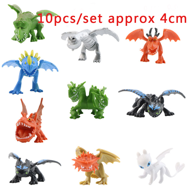 10/12pcs/set Kid Toys How To Train Your Dragon Toothless Action figure PVC Cartoon Movie Collection Model For Children Gifts