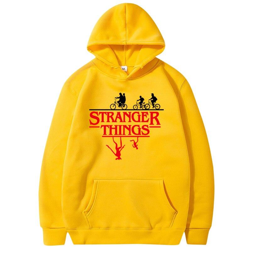 Stranger Things Women Hodies Yellow Hoodie Oversized Kawaii Hoodie Gothic Letter Print Kpop Vs Pink Streetwear Pink Clothes