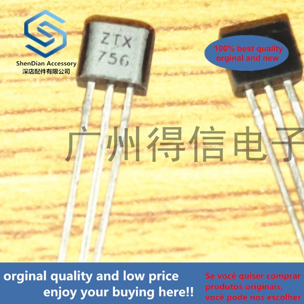 10pcs 100% Orginal New ZTX756 756 Imported PNP 200V 0.5A 1WTO-92 Real Photo