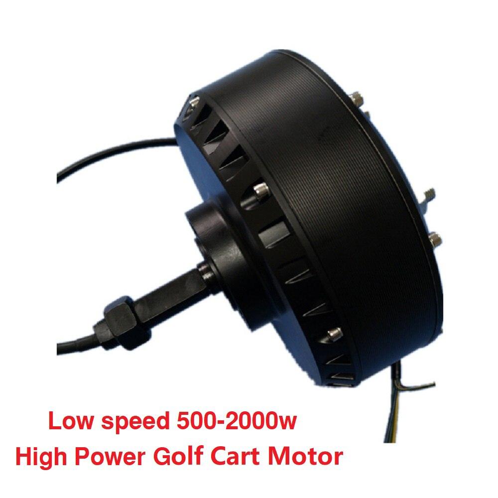 Low-Speed-500-2000W-Brushless-DC-High-Power-Single-Side-Wheel-Hub-Motor-Golf-Cart-Motor