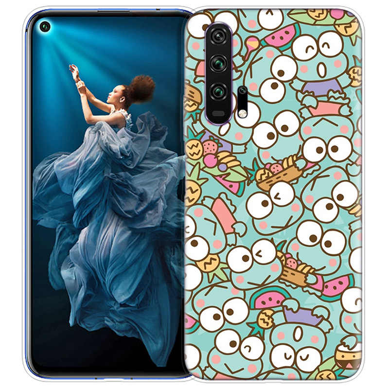 Cute Little Frog Cartoon Case for Huawei Honor 9X 8X Y9 20 8C 8 9 10 Play 8A Lite Pro V20 Y7 Y6 Y5 2019 Soft Phone Coque Cover
