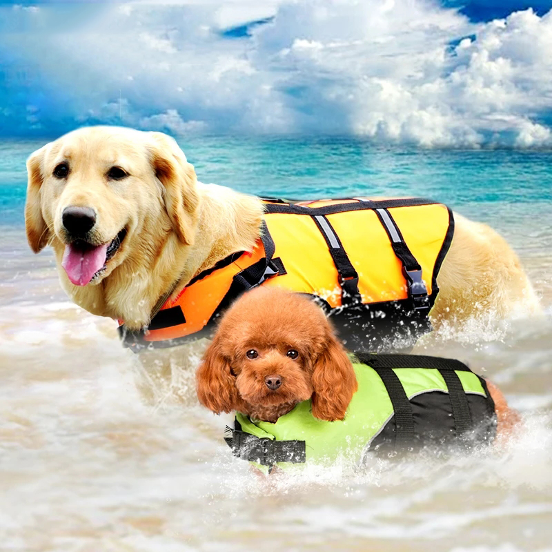 Pet Dog Life Jacket Swimsuit Clothing Supplies Summer Style Pet Swimsuit Large and Small Dog Dog Life Jacket Cheap clothes