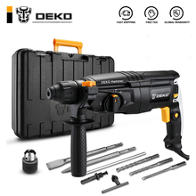 Rotary-Hammer Power-Drill Electric 5pcs-Accessories 4-Functions DEKO 220V 26mm with BMC