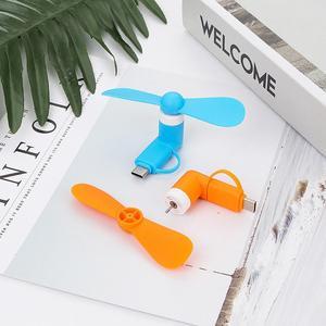 Adoolla 2 in 1 USB Fan Mini Tragbare Flexible Gadgets für Apple Android Xiaomi Power