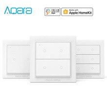 نسخة دولية أصلية من Aqara Opple مفاتيح لوحة مفاتيح ذكية لاسلكية لوحة زيجبي 3.0 تعمل مع تطبيق Mijia Apple HomeKit