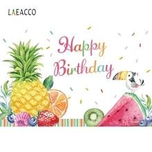 Laeacco abacaxi melancia frutas chá de fraldas photophone aniversário fotografia fundos foto backdrops para estúdio foto