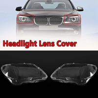 2Pcs Car Clear Headlight Lens Shell Cover Replacement Head Light Lamp Cover for Bmw 7 E65 E66 2005 2008