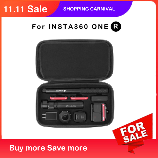 Case for INSTA360 ONE R  Bag bullet time multi functional storage bag carrying case for INSTA360 ONE R Accessories