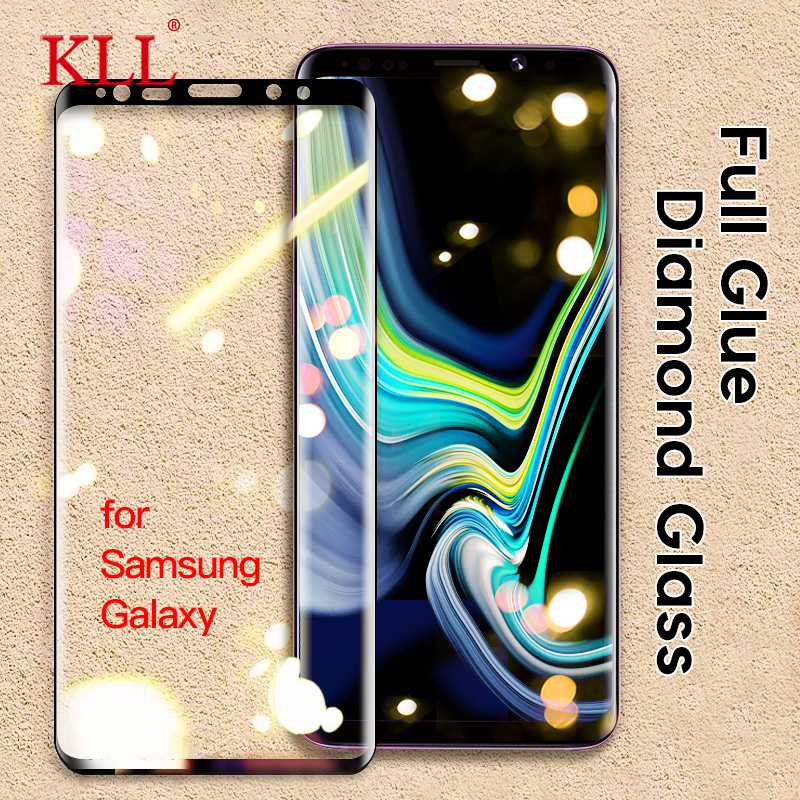 Full Glue Curved Full Cover Tempered Glass For Samsung Galaxy Note 10 Plus Note 9 8 Screen Protector For Samsung S10 S9 S8 Plus