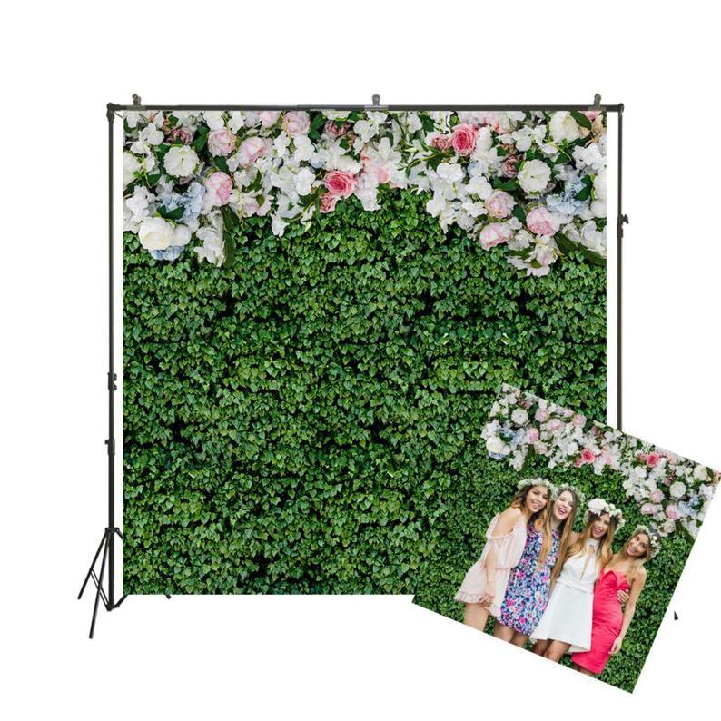 Wedding Birthday Photo Booth Hen Night Gold Floral Petal Backdrop