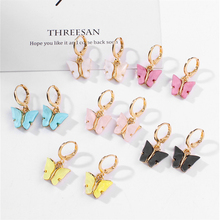 2020 Cheap Multi-Colorful Cute Jewelry Butterfly Earring CharmFor Kids