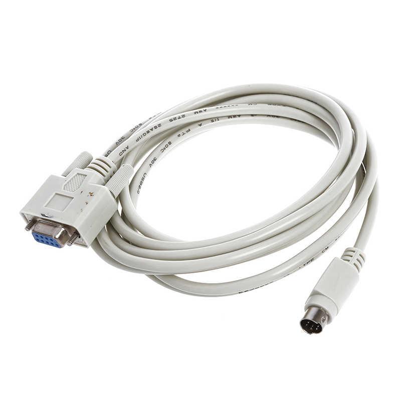 DB9P に 8 8p ミニ Din RS232 ダウンロードケーブル白 8.2 フィート PLC DVP-EH