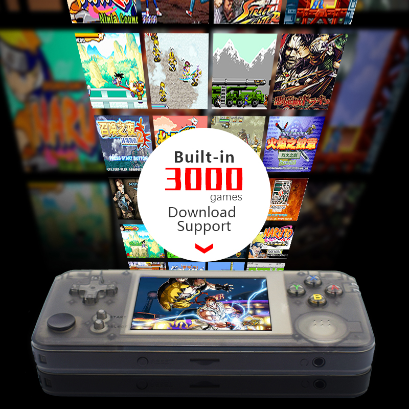 Image 2 - DATA FROG RS 97 Retro Handheld Game Console 64Bit 16GB 3.0Inch Built in 3000 Classic Games Support For NEOGEO/CP1/CP2 Emulators-in Handheld Game Players from Consumer Electronics