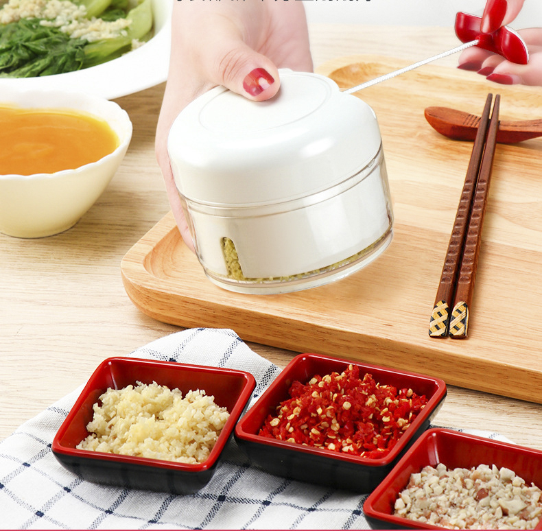 Garlic Chopper Hand Speedy Vegetable Chopped  Shredders Manual Meat Grinders Vegetable Tools Kitchen Rotate Drawknife