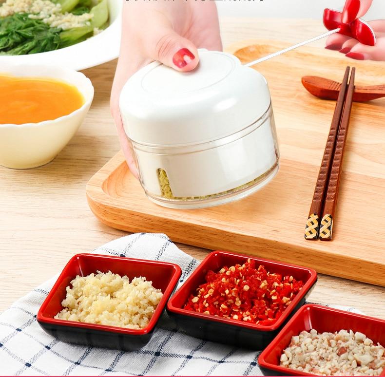 Garlic Chopper Hand Speedy Vegetable Chopped  Shredders Manual Meat Grinders Vegetable Tools Kitchen Rotate Drawknife