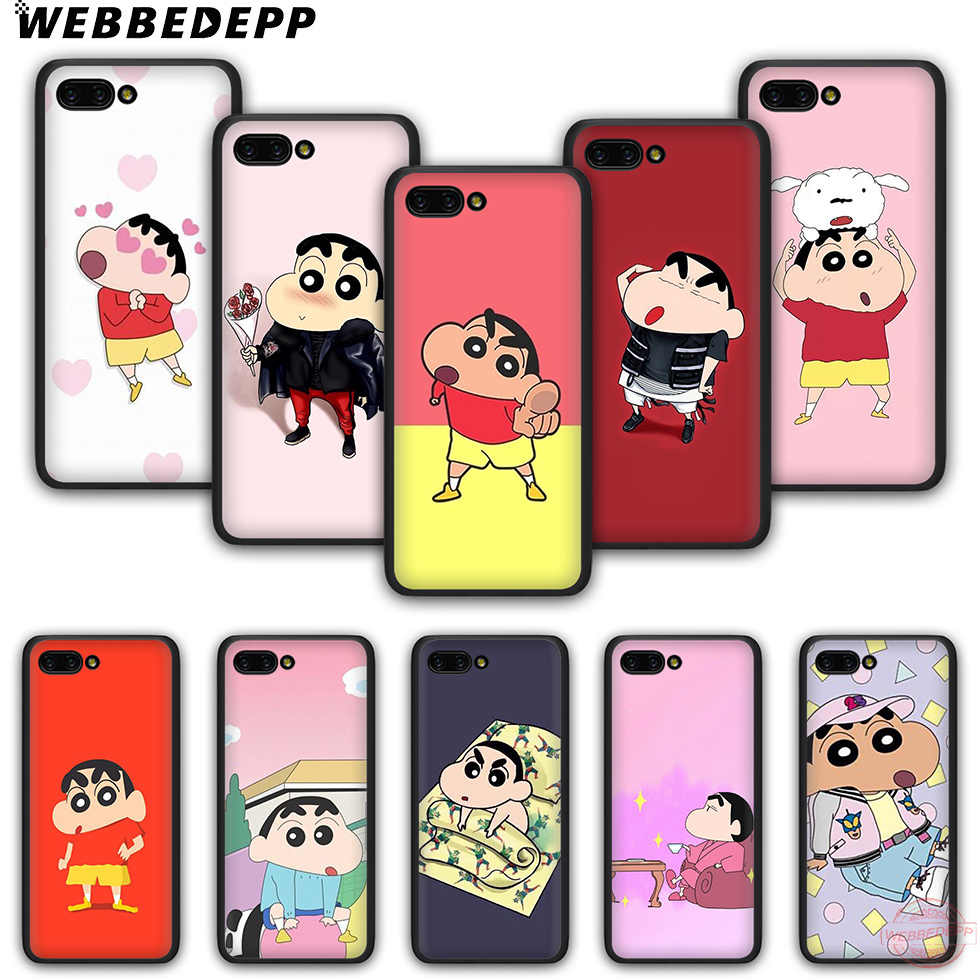 WEBBEDEPP Cartoon Crayon Shin-chan Fashion soft silicone phone case for Honor 6A 7X 8X 8C 9 10 Note10 for Honor 8 9 10 Lite