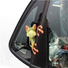 Забавная креативная 3D наклейка на автомобиль с большими глазами, черная наклейка, Peeking Monster 19x7 см, водонепроницаемые самоклеющиеся съемные автомобильные аксессуары