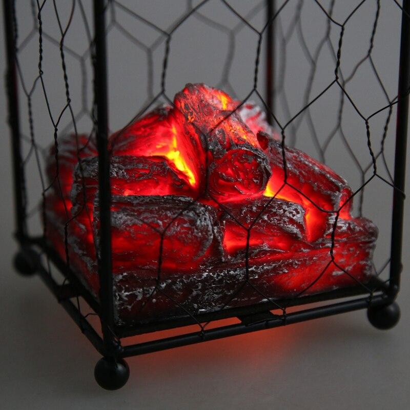 dekorative Simulations-Holzkohle-Laterne Kamin-Heim-Zubeh/ör LED-Laterne Simulations-Holzkohle-Requisiten-Licht Gaocunk K/ünstliche Flammeneffekt-Lichter