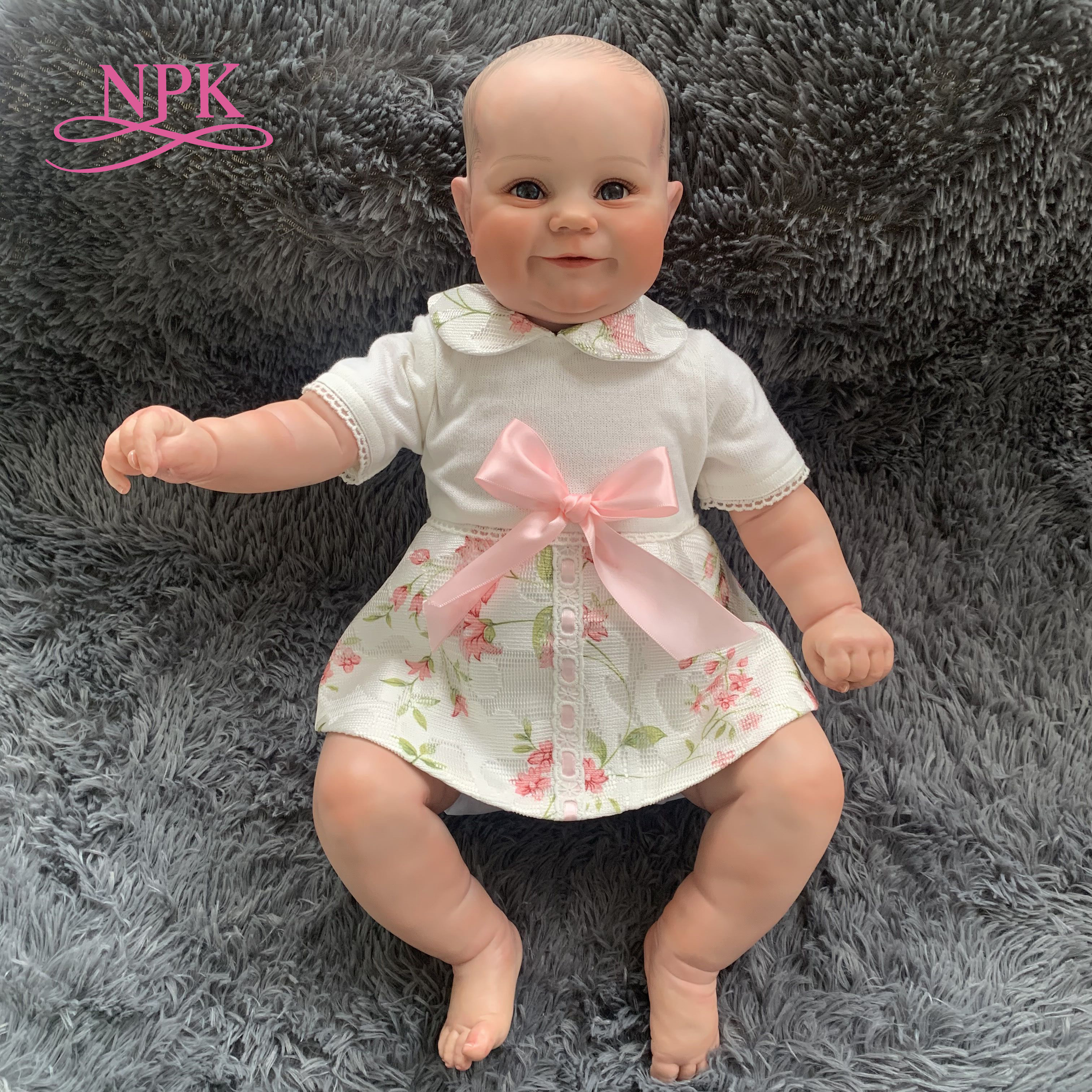 NPK 50CM reborn baby puppe beliebte Maddie fett nettes gesicht hand-zeichnung haar hand malerei echt soft-touch kuschelig baby sammeln